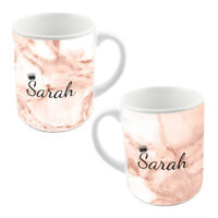 Princess Crown Personalised Customised Marble Name Gift Coffee Tea Cup Mug MO2-7