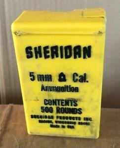 Vintage Sheridan Almost A Full Box 5mm Pellet Gun Rifle Ammunition .