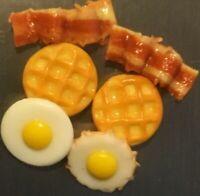 Food Drink Resin 3D Fridge Magnet Lot 👻🧲 (6) Pc Breakfast Mini Style Handcraft
