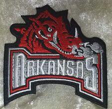 """Arkansas Razorbacks 3"""" Iron On Embroidered Patch ~FREE Ship`!!"""