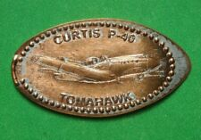 Curtis P-40 Tomahawk elongated penny Usa cent Flying Machines Series coin