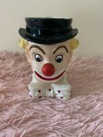 "Vintage 5"" Inarco E-2320 Clown Head Planter Excellent Condition"