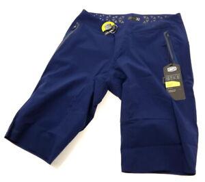 100% Celium Mountain Bike Shorts Navy Blue - 32