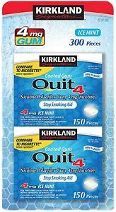 Kirkland Signature Quit Ice Mint Gum 4 mg, 300 Pieces