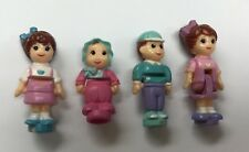 4 Vintage Polly Pocket Dolls - Figures 1994 1995 Girls Boy Baby