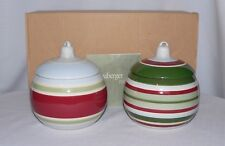 Longaberger Ornament Candle Holders Or Candy Dishes New