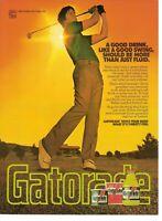 1981 Gatorade Vintage Magazine Ad   Golfer - 'A Good Drink Like A Good Swing'
