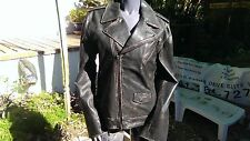 Scully Leather 991 Black Sanded Calf Motorcycle Jacket  (L)