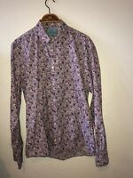 Mens Large Scotch And Soda Shirt Rare Floral Pattern Must See 100% Cotton