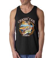 Chaising Tail Fish Redfish Fishing Lovers Tank Top Sleeveless Shirt