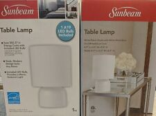 NEW! Sunbeam White Table Lamp with LED Bulb Included