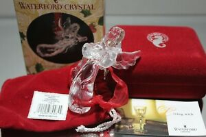 Waterford Crystal Angel Christmas Ornament 2nd Edition 2003 w/ Box & Papers MINT