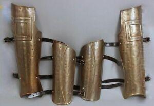 X-Mas 300 Movie Spartan Medieval Leg + Ancient Arm Guard Set Greaves & Brace