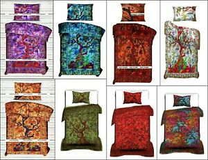 Bedding Duvet Cover Twin Size Cotton Tree Of Life Design Comforter Quilt Cover