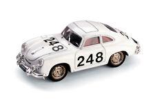 BRUMM 1:43 AUTO DIE CAST PORSCHE 356 COUPÈ MILLE MIGLIA 1956 BIANCO  ART R120