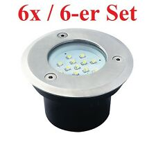 Set Of 6 LED Ground level spotlight GORDO 0.7W SMD Recessed floor ligths round