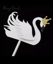 white swan crown cake topper cake decoration wedding party x5