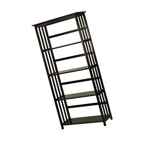 Casual Home Mission Style 5-Shelf Bookcase, Espresso