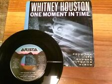 """WHITNEY HOUSTON 45 RPM """"One Moment in Time"""" w/ original picture sleeve VG+ cond"""
