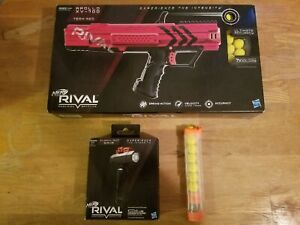Nerf Rival Apollo XV-700 Red NEW, Rival Tactical Flashlight New + 1 Extra Mag