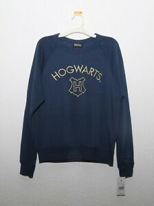 Official HARRY POTTER Character HOGWART Sweatshirt Sweater blue Adult SIZE S NWT