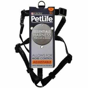Petlife Nylon Adjustable Harness Black