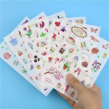 6pcs Cute Happy Life Garden Sticker Kid Scrapbooking Diary Photo Album Decor DIY