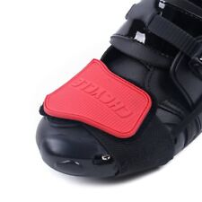 Motorcycle Shoes Shifter Protector Motorbike Boots Cover Non Slip Scuff Pad Red