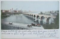 VINTAGE 1906 POSTCARD MILLING DISTRICT ST.ANTHONY'S FALLS BRIDGE MINNEAPOLIS MN