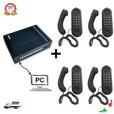 Centralino Telefonico Analogico 3 linee 8 interni MF308PC + 4 TELEFONI TMPA019