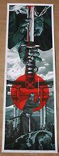 Anthony Petrie Warrior's Dream Part II Samurai Poster Art Print Blue Variant