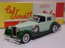Delage D8-120 1939 Solido 1/43 Diecast Mint in Numbered Box