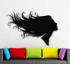Wall Stickers Vinyl Decal Silhouette Girls Hairstyle Beauty Salon Hair (ig438)