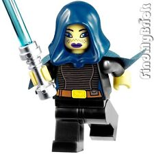 SW196 Lego Star Wars Barriss Offee Minifig Mirialan Jedi w/ Short Cape 9491 NEW
