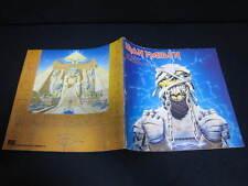 Iron Maiden 1985 Japan Tour Book with Stapled Ticket Stub Program World Slavery