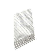 PVC Abschlussprofil 3 mm 2,0 m mit Gewebe 200 cm Putzprofil Putzabschlussprofil