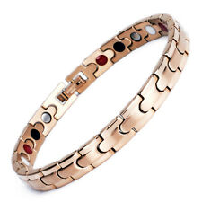 Novoa Women Magnetic Bracelet Quad-Element Stainless Titanium Two-Tone Rose Gold