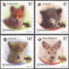 Romania 2012 Bear/Fox/Wolf/Deer/Young Animals/Nature/Wildlife 4v set (n46118)