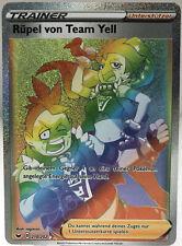 Pokemon Rüpel von Team Yell Fullart Rainbow Rare 210/202 Schwert & Schild DE NM