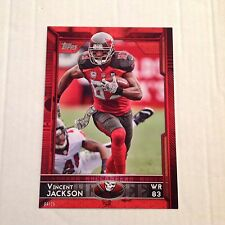 #204 VINCENT JACKSON Buccaneers North Colorado #ed/25 made Red 2015 Topps 5x7