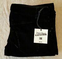 Jean Paul Gaultier Femme Crop Flare Velvet Pants US 8 Made in Italy