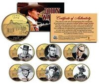 JOHN WAYNE MOVIES Iowa Quarters US 6-Coin Set * LICENSED * Stagecoach