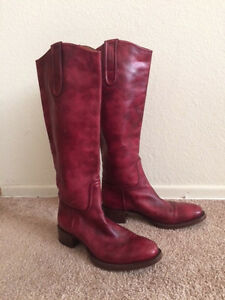 Rocco P boots (red) size 38 1/2/ U.S. 8 only worn a handful of times