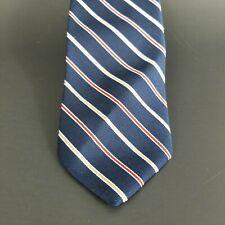 Equus Mens Tie Navy Blue Striped Vintage Neckwear