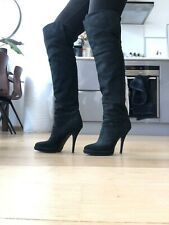 Givenchy Knee-High Black Suede Boots - Size EU40
