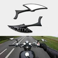 2x Black Rearview Mirrors for Yamaha Road Star Warrior Midnight XV1600 XV1700
