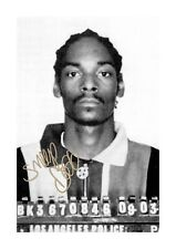Snoop Dogg A4 Mug Shot reproduction autograph poster with choice of frame