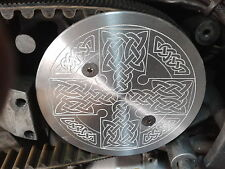 CNC ALUMINIUM CELTIC CROSS SMALL PULLEY COVER BUELL X1 LIGHNING FITS 29 TOOTH