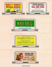 """5 billboard sign set #89, Z scale, Wall Drug Store """"Free Ice Water"""""""