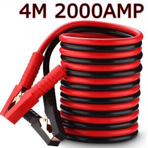 2000A 2x 4m Starthilfekabel überbrückungskabel Starterkabel KFZ LKW PKW Batterie